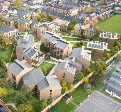 Stainless steel roofs for Vita York student village