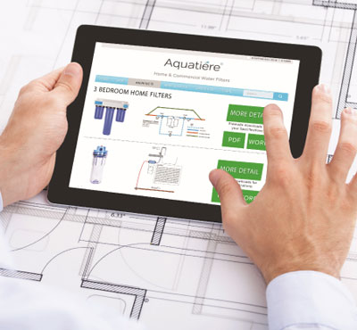 Aquatiere Launches New Website with a Special Page for Architects