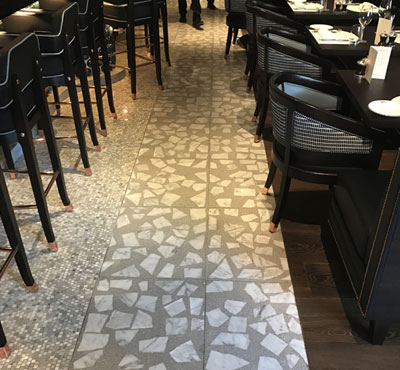 Terrazzo tile flooring adds style at top Covent Garden restaurant