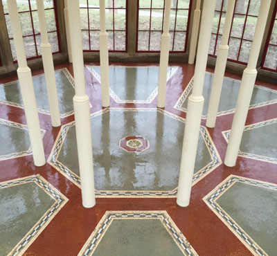NFTMMS member renovates historic ceramic mosaic floor at major stately home