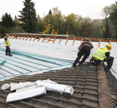 Roof refurbishment made easier with YBS BreatherQuilt