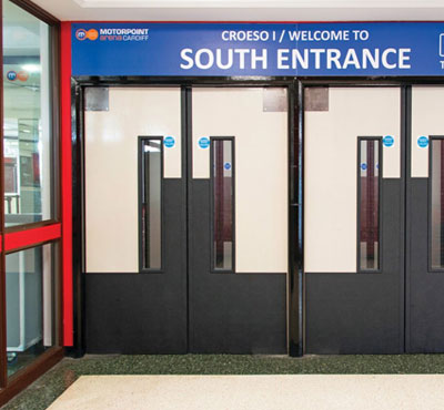 Yeoman Shield fire rated door protection performs at Motorpoint Arena