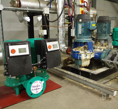 Wilo pumps help energy efficiency in Isle of Man hospital