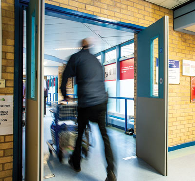 Hospital Installs Yeoman Shield to Help Maintain Fire Doors